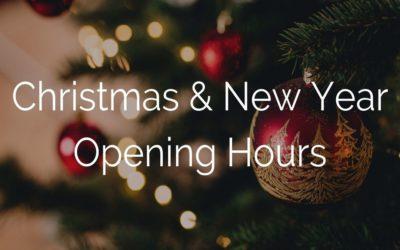 Christmas & New YearOpening Hours